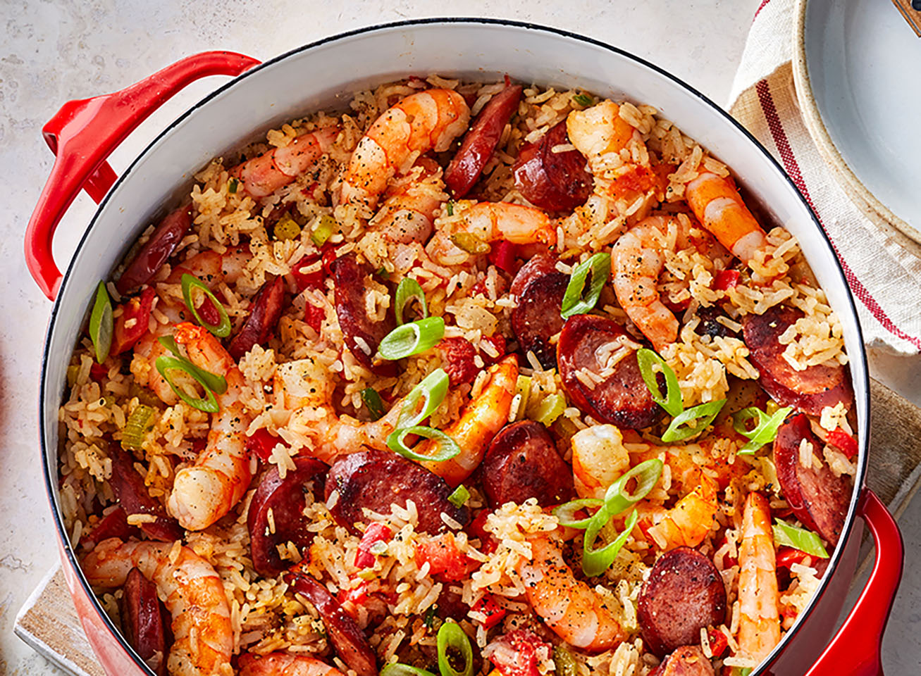 Shrimp and Smoked Sausage Jambalaya