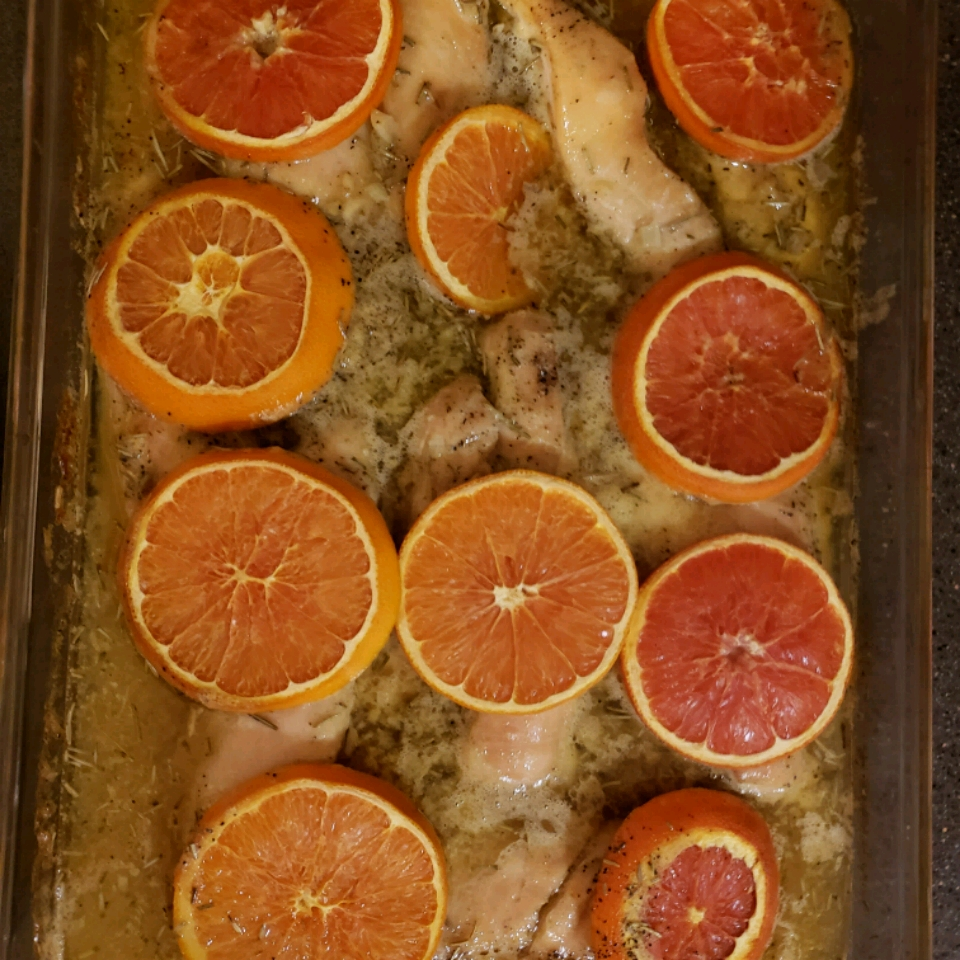 Roasted Orange Rosemary Honey Glazed Chicken