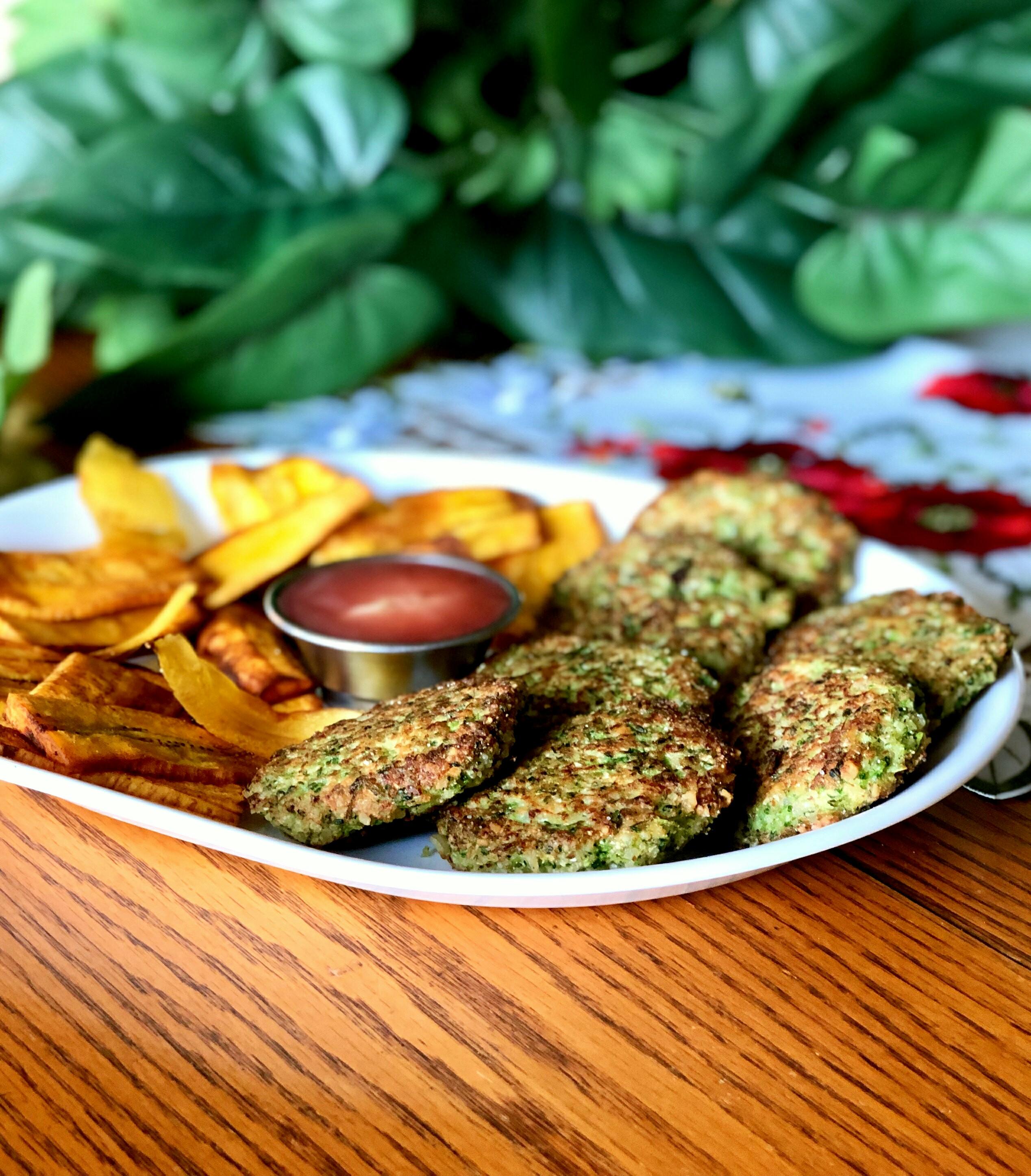 Broccoli-Cauliflower Fritters Marina Pariseau