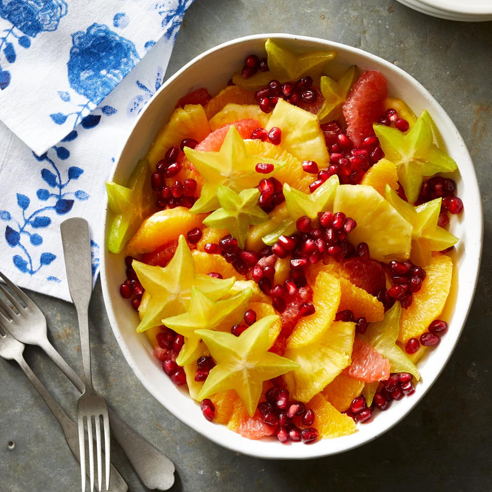 Fruit salad isn't just for summer; orange, grapefruit, pineapple, star fruit and pomegranate combine for a satisfying dish your body will crave amidst all the holiday treats.