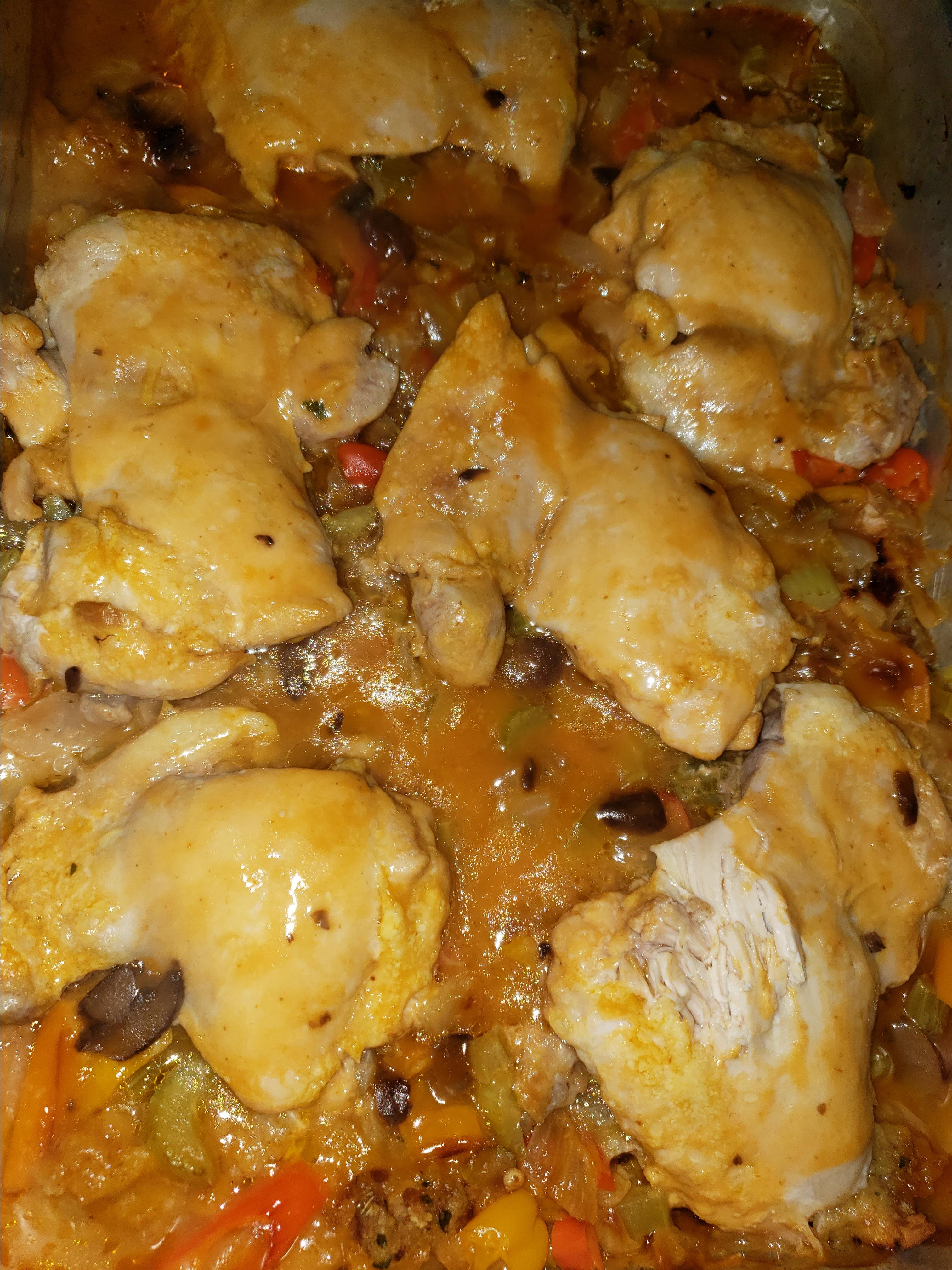 One-Dish Chicken and Stuffing Bake
