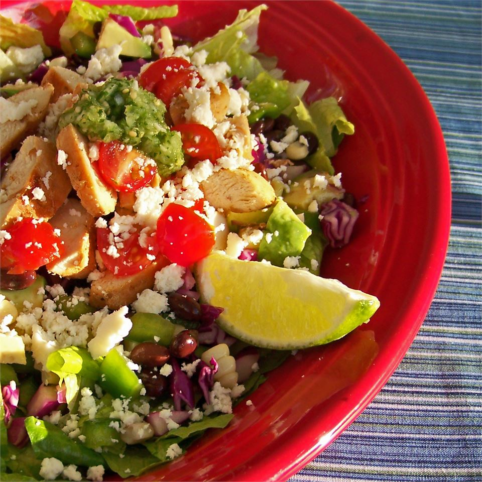 Spicy Southwest Chopped Salad with Salsa Verde Jenny from WA