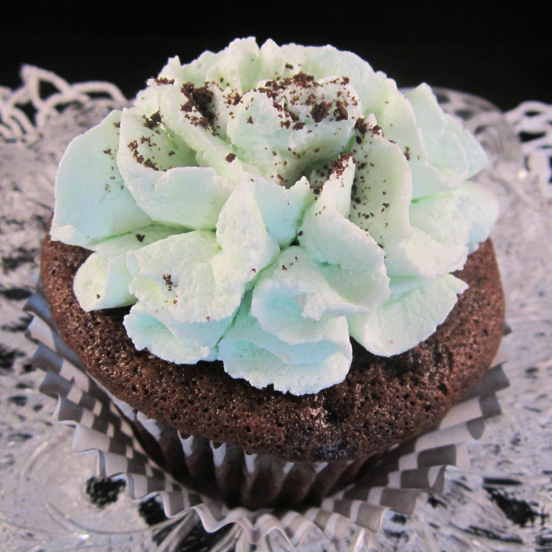 Mint Devil's Food Cupcakes image