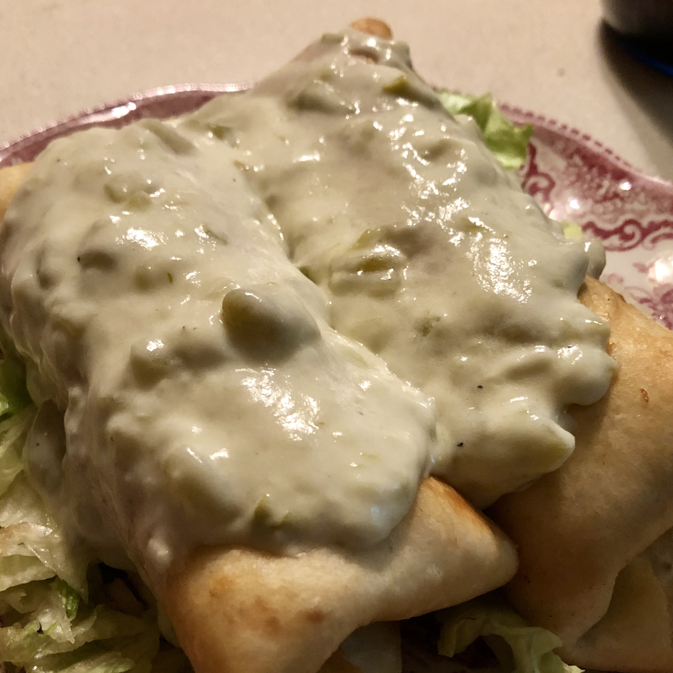 Chicken Chimichangas with Sour Cream Sauce Rebecca