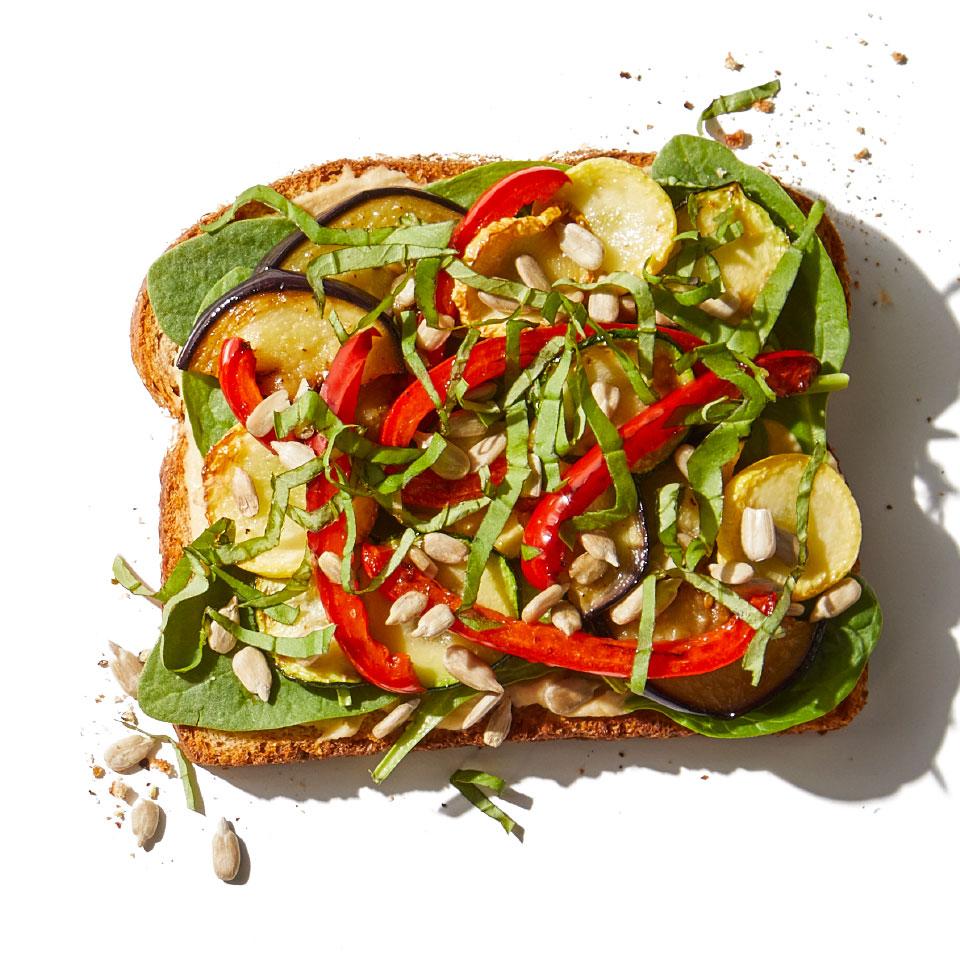 Roasted Veggies & Hummus Sandwich Katie Shields, M.S., RDN