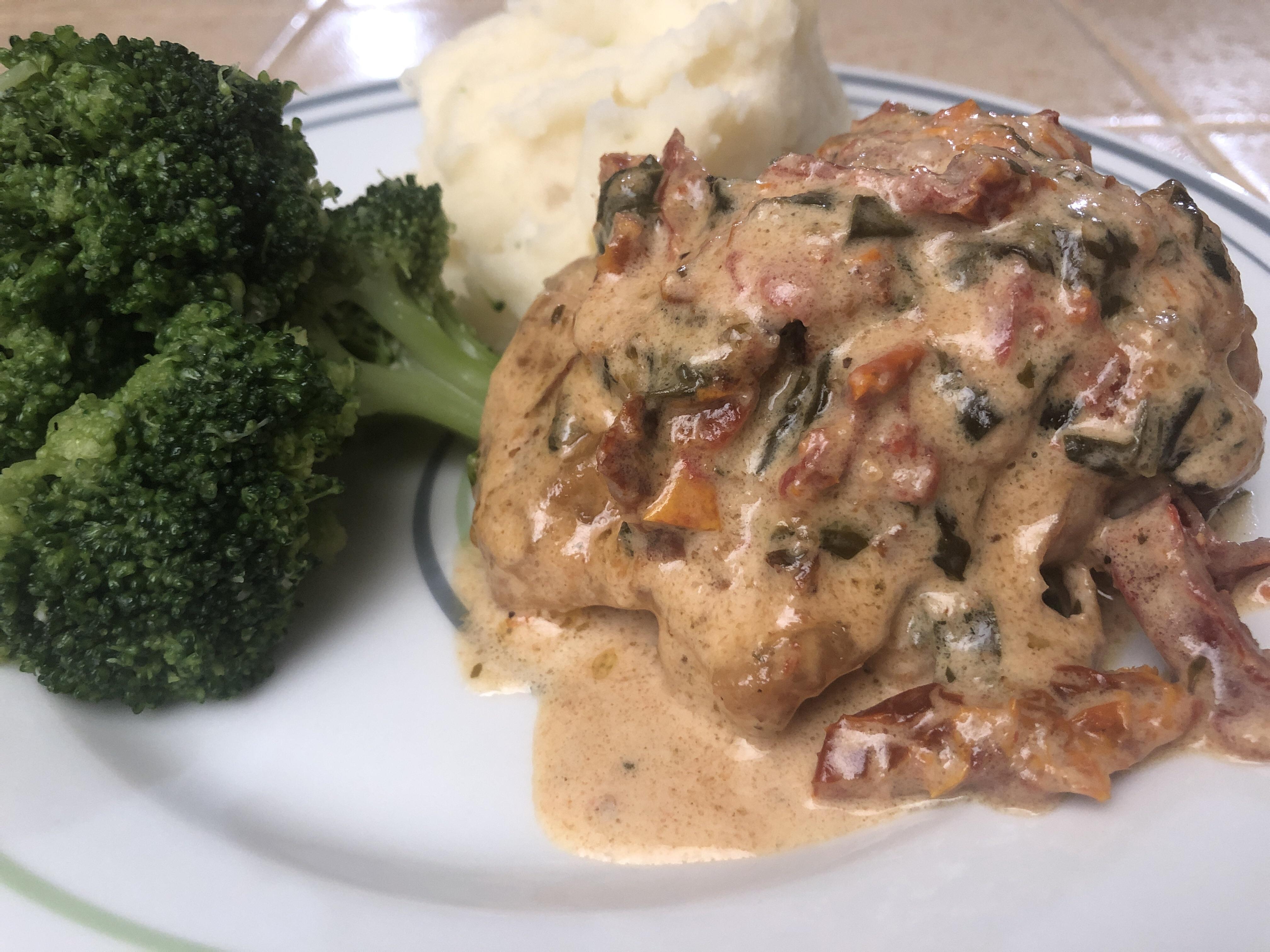 Chicken with Prosciutto Spinach Cream Sauce Chef Roy