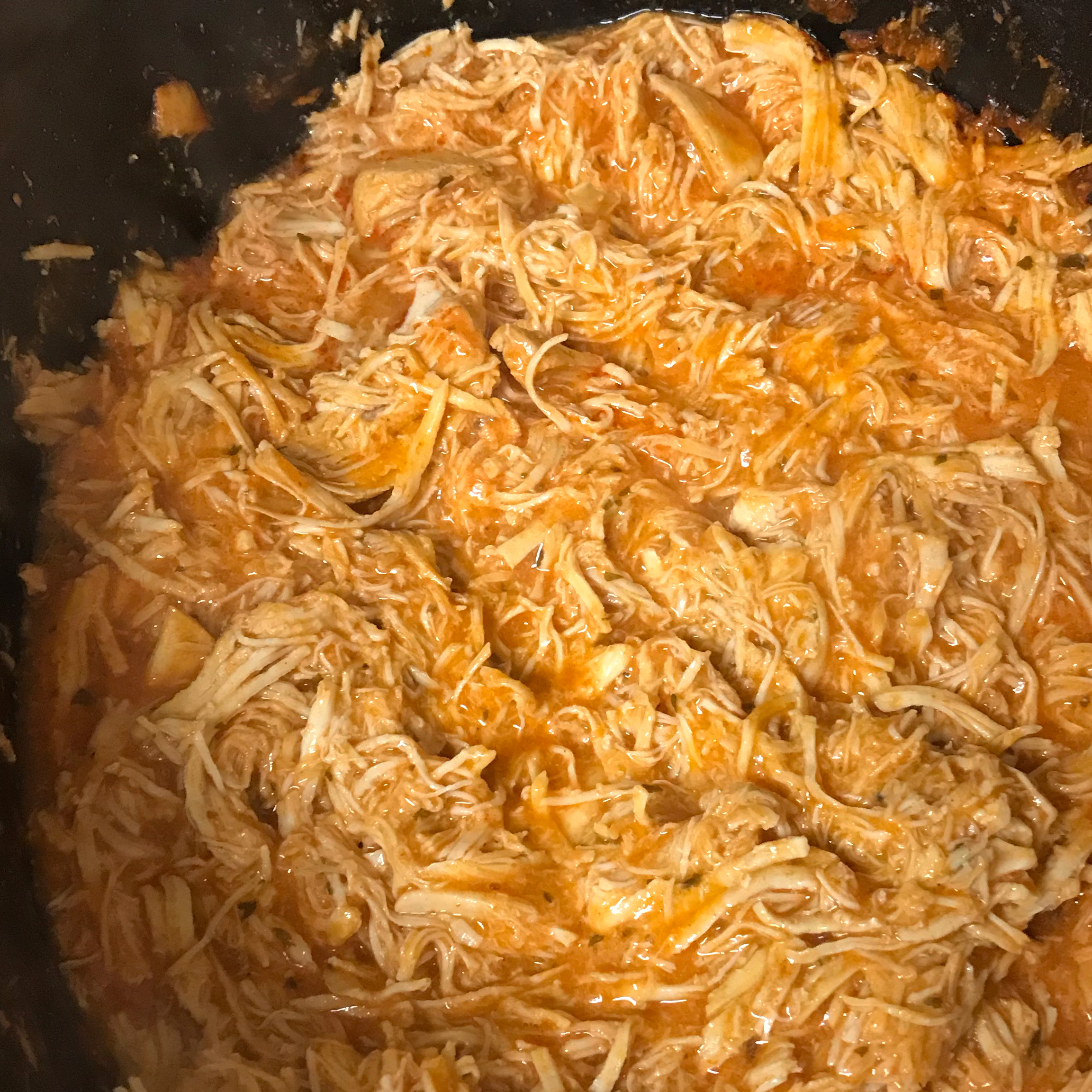 Slow Cooker Buffalo Chicken Sandwiches jwoodall