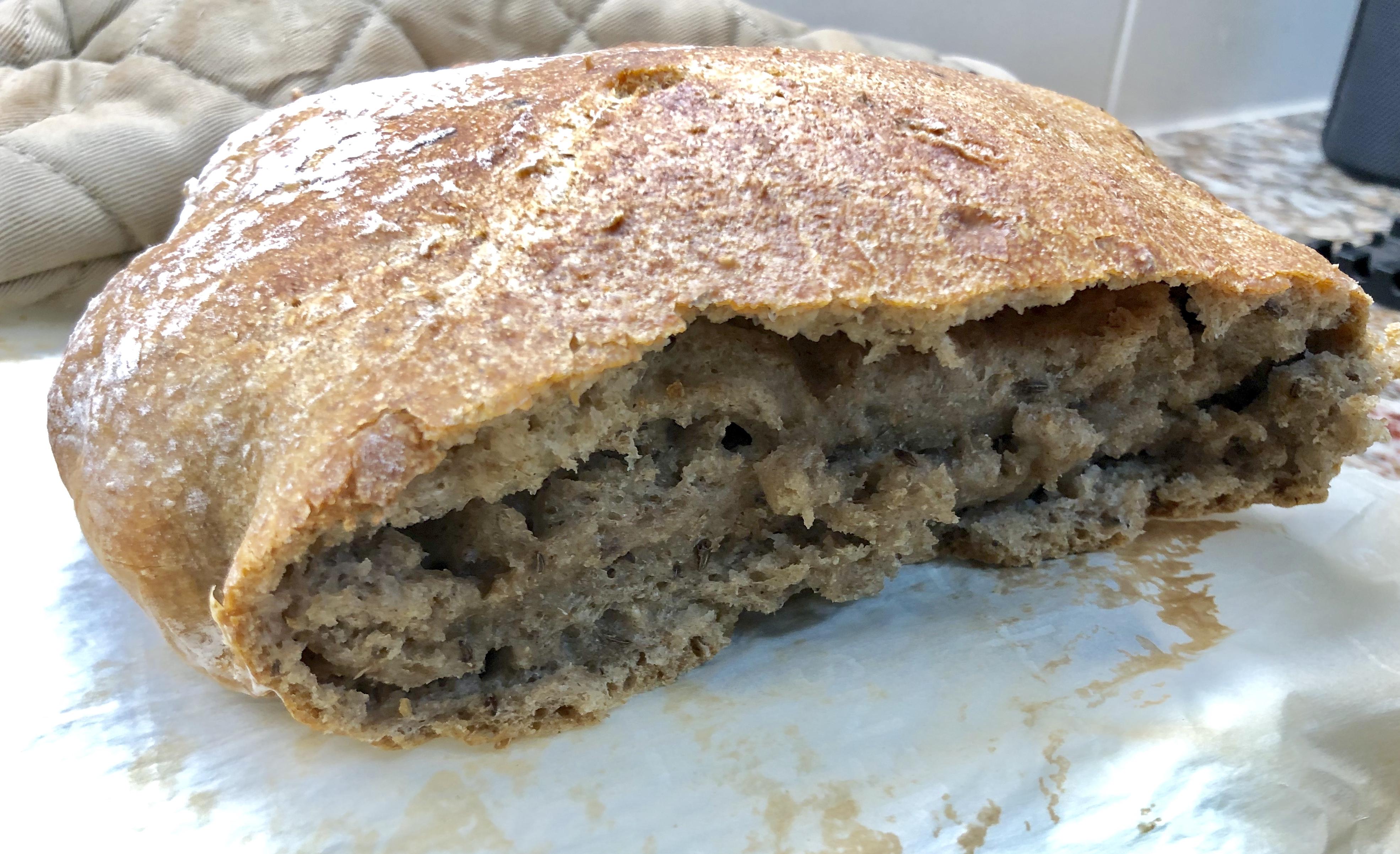 Dutch Oven Caraway Rye Bread Ann Alimi