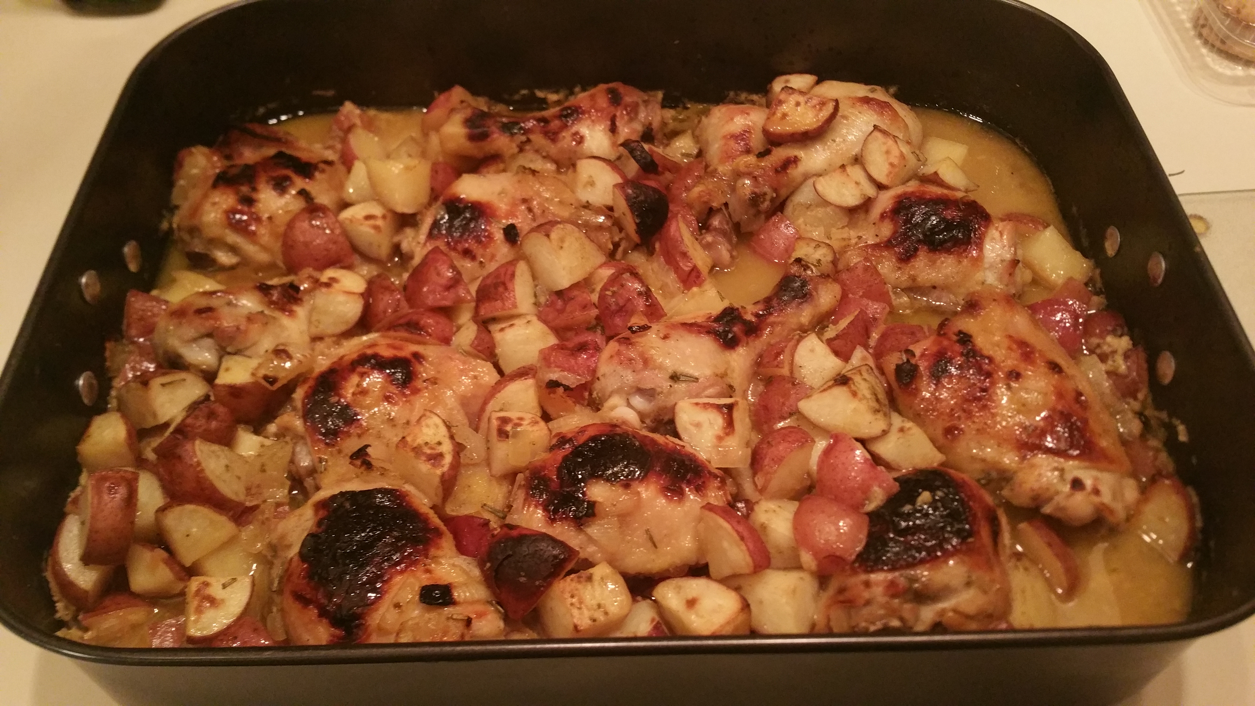 Easy Honey-Mustard Chicken and Potato Bake Steve B