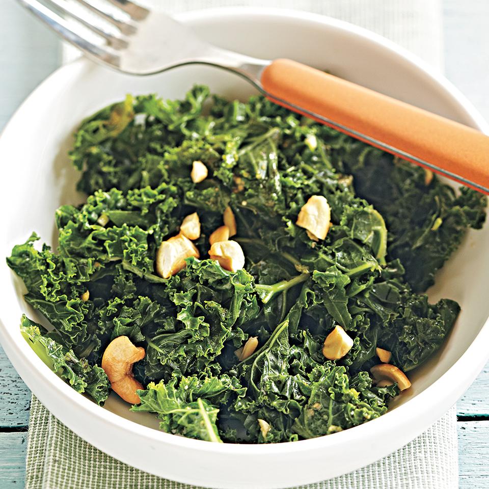 Miso-Ginger Kale Diabetic Living Magazine