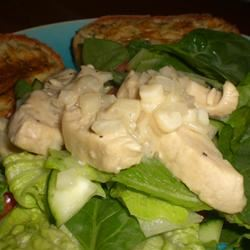 Lime-Garlic Chicken and Spinach Salad kellieann