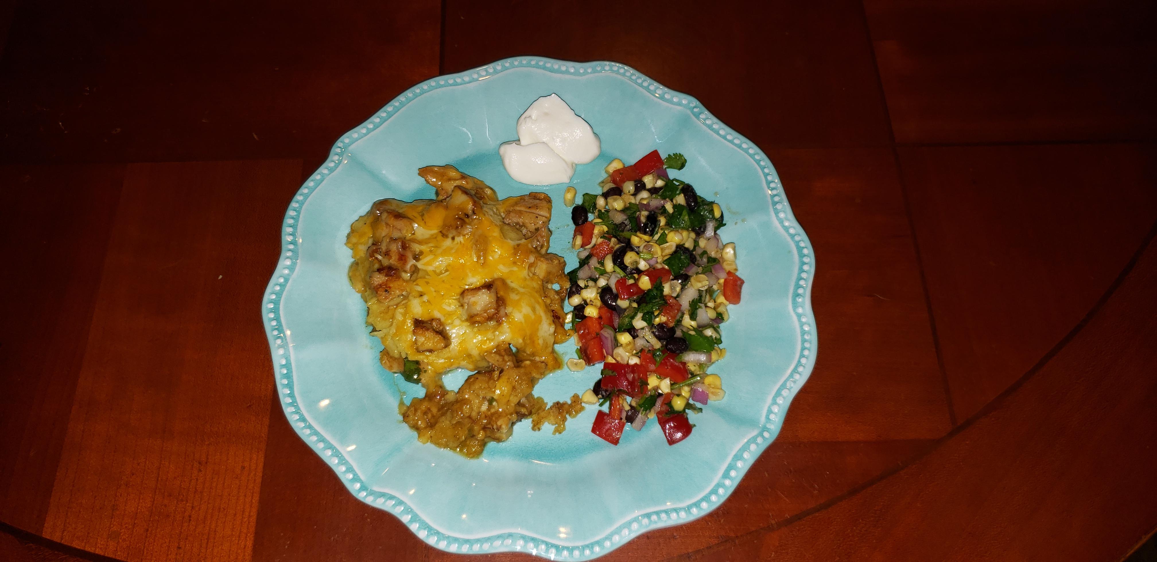 Quick and Easy Green Chile Chicken Enchilada Casserole Patricia Vowell