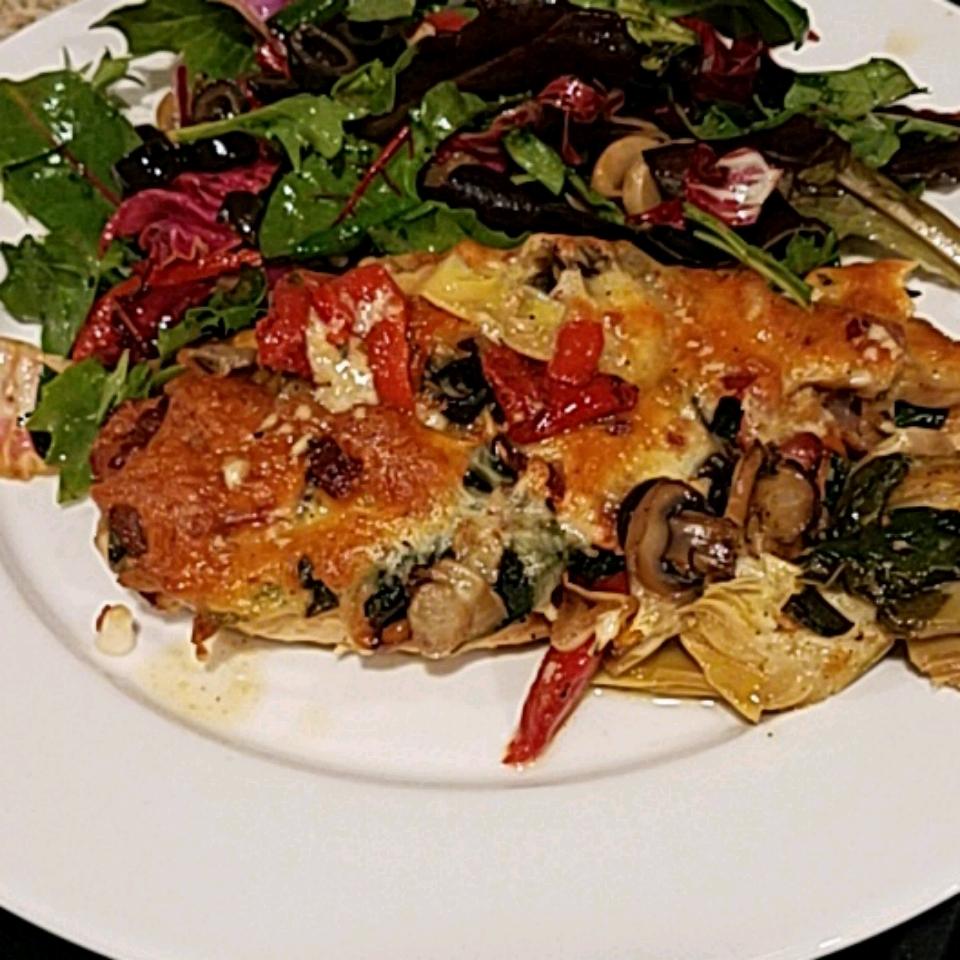 Spinach Salad  Chicken Bake Pen Fazz