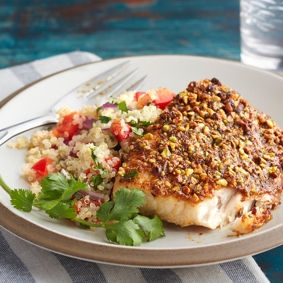 Sweet Chili & Pistachio Mahi Mahi Diabetic Living Magazine