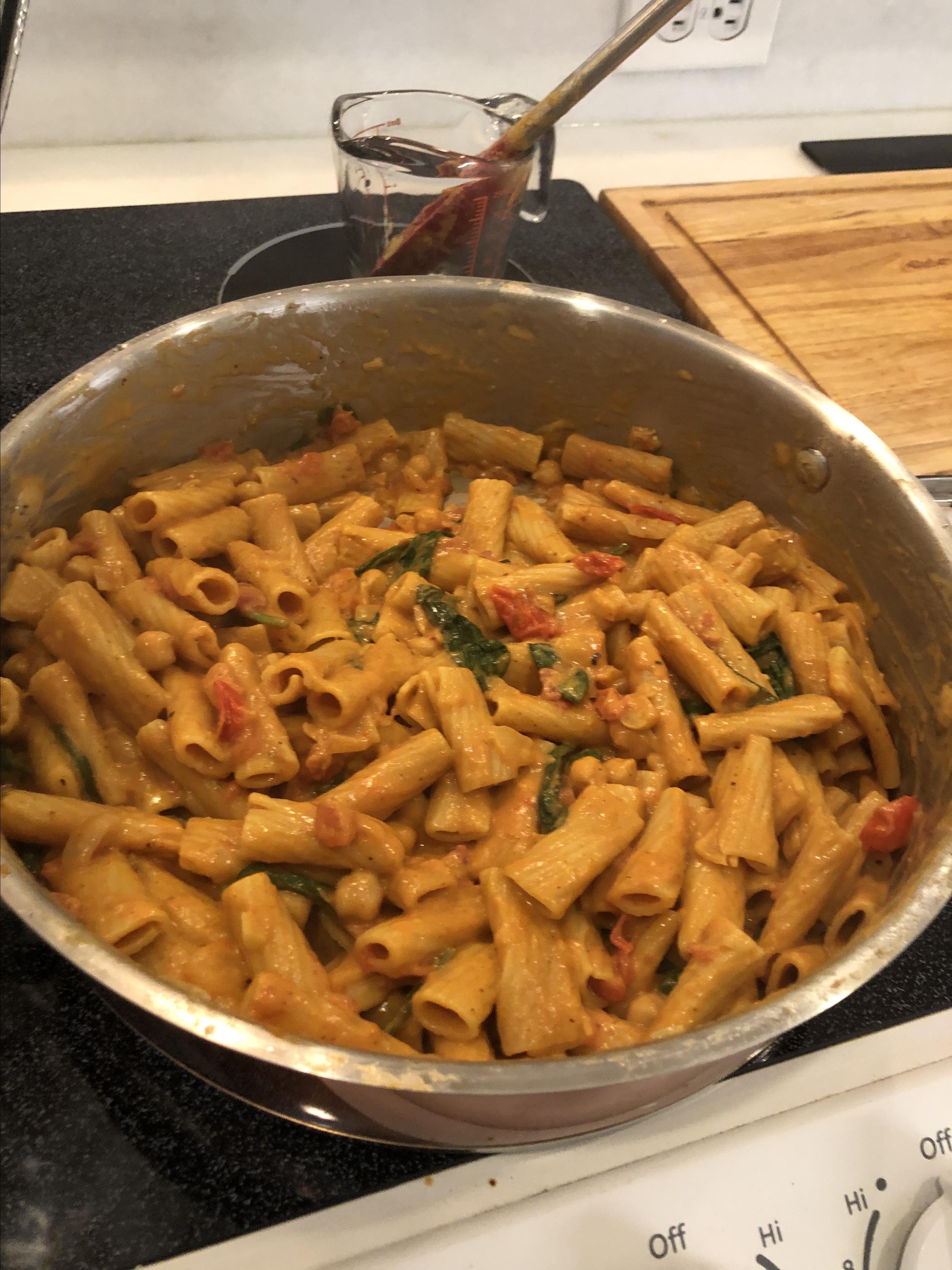 Vegan One-Pot Coconut Curry with Pasta and Vegetables