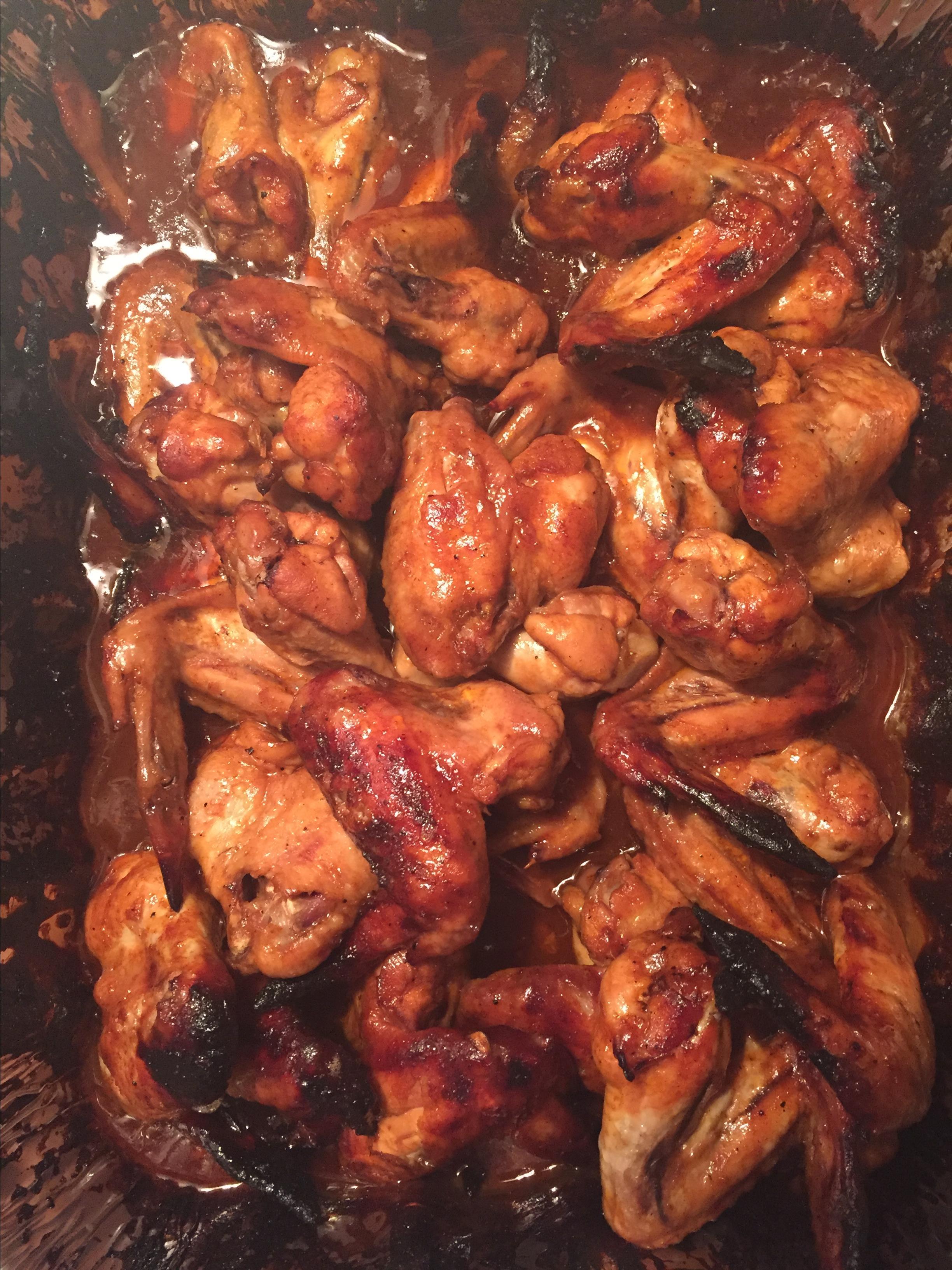 3-Ingredient Baked BBQ Chicken Wings Lisa Suzanna Stratton