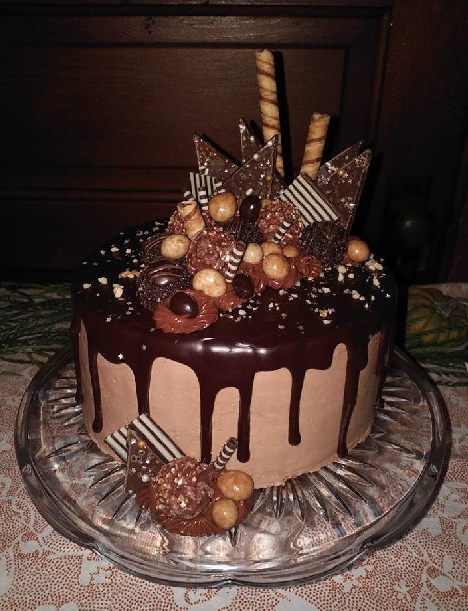 Remarkable Nutellareg Chocolate Cake Allrecipes Funny Birthday Cards Online Benoljebrpdamsfinfo