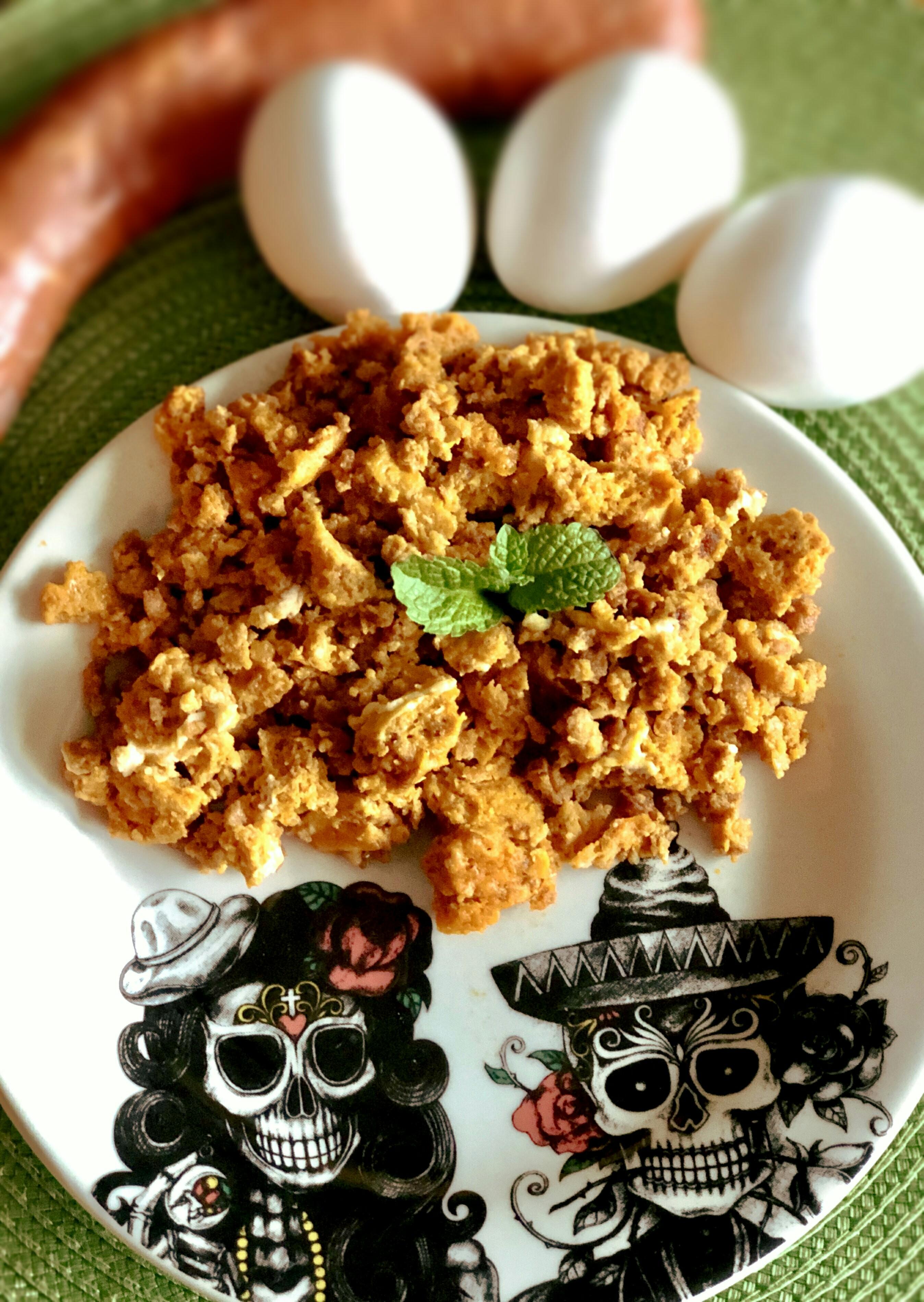 Microwave Longaniza con Huevos