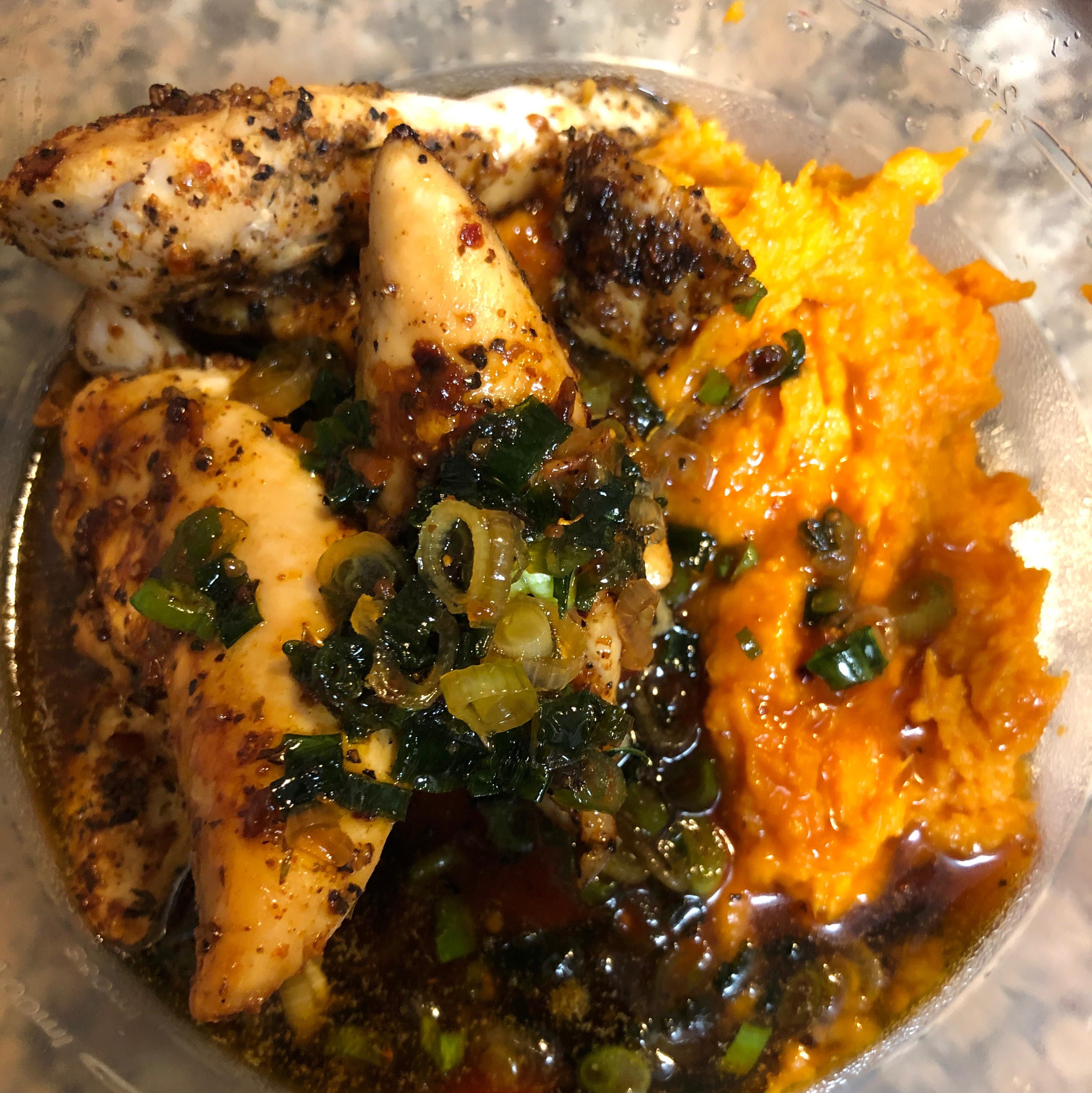 Maple Glazed Chicken with Sweet Potatoes Stuby