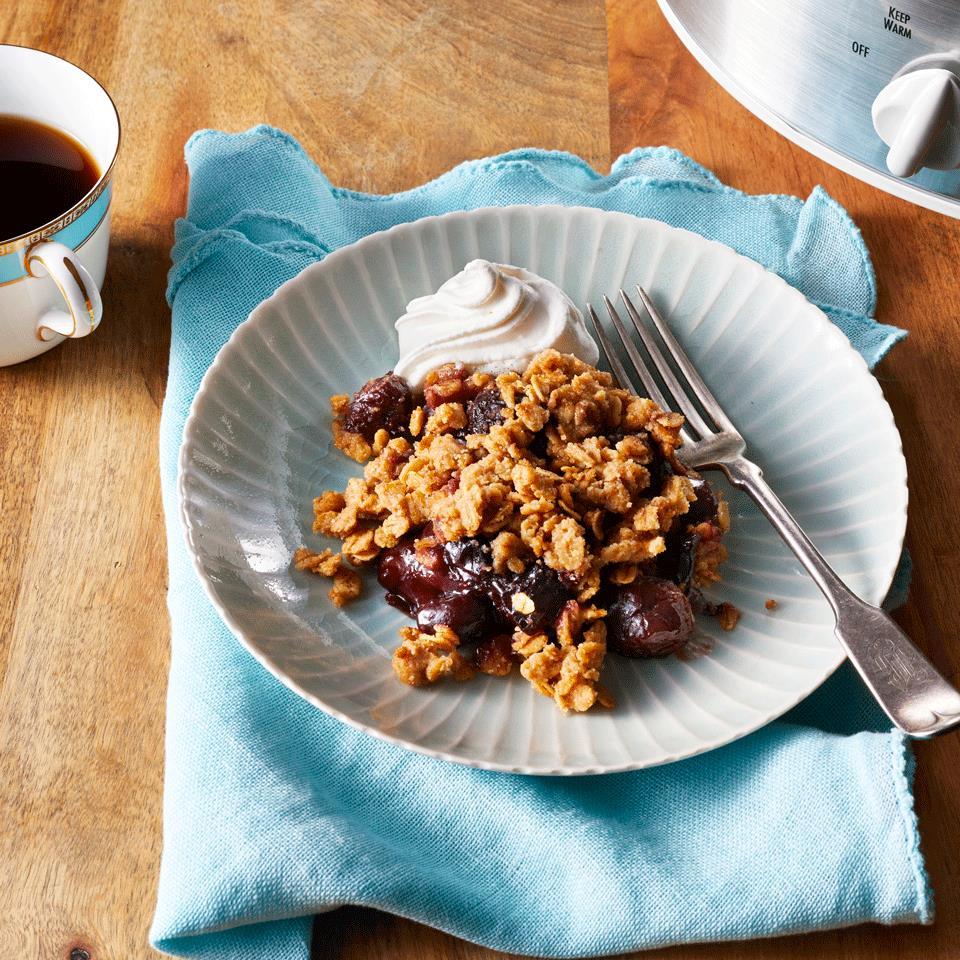 Slow-Cooker Cherry Cobbler Sarah Epperson