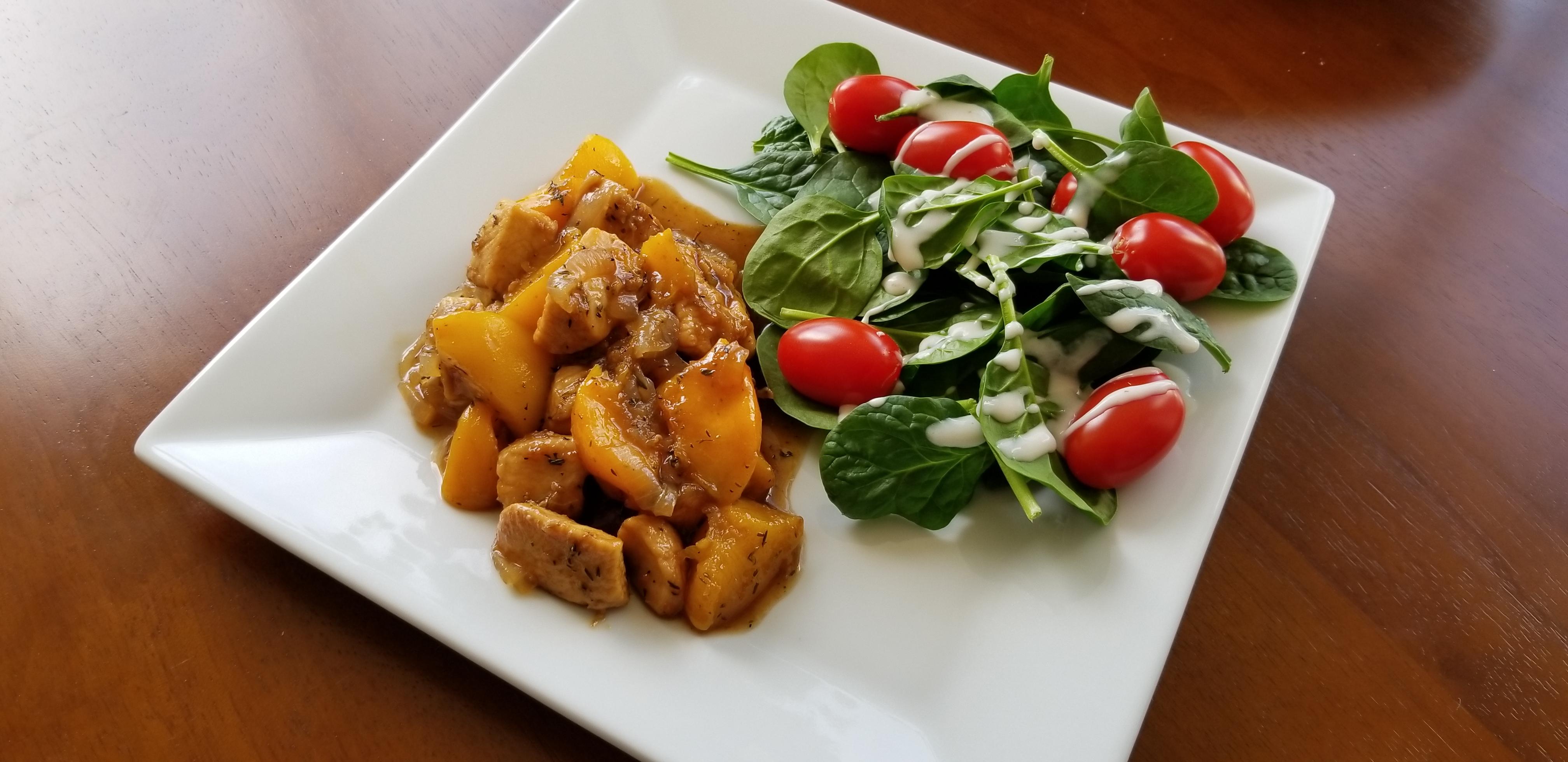 Apricot Chicken with Balsamic Vinegar