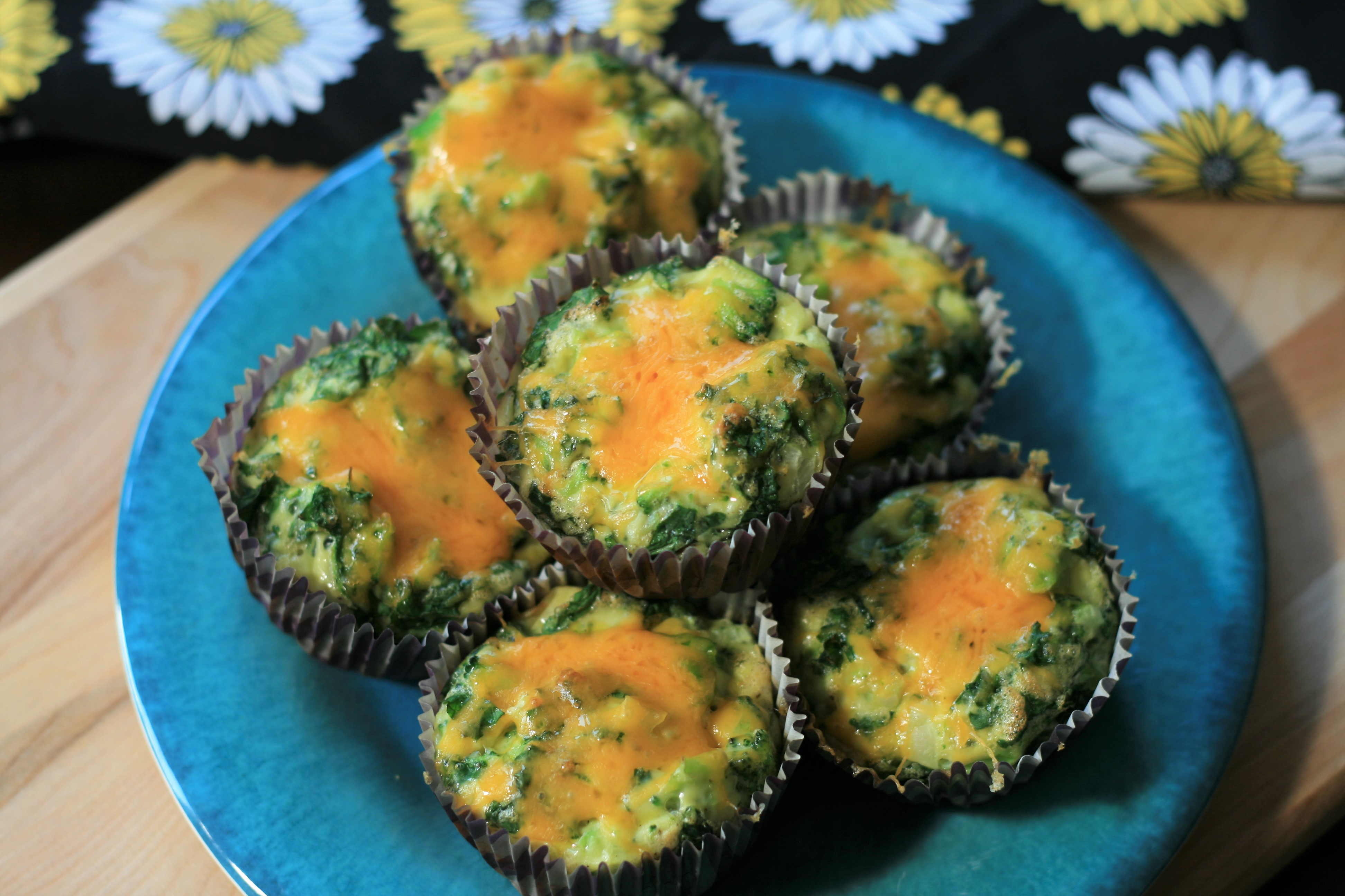 Omelet Muffins with Kale and Broccoli Carol Ann