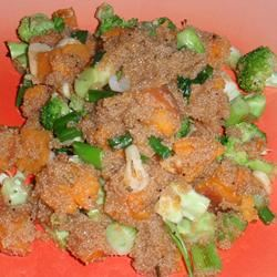 Quinoa with Sweet Potatoes and Broccoli