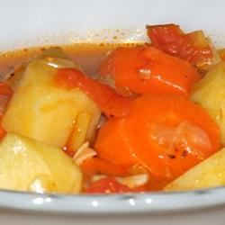 Chunky Tomato Potato Soup Sudarat Poonapirat