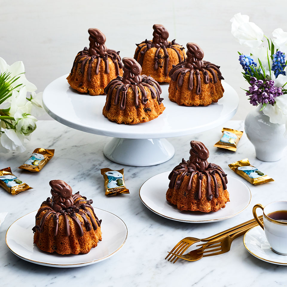 Ghirardelli Chocolate Chip Mini Bundt Cakes