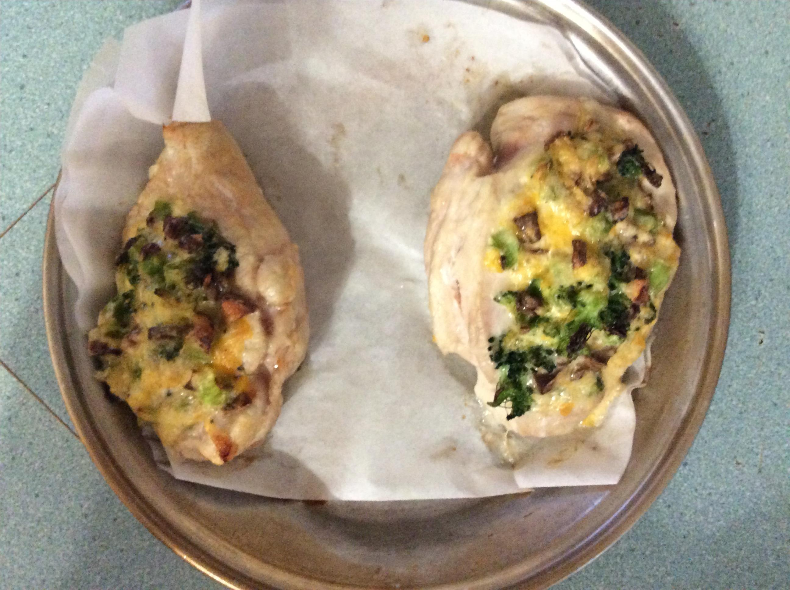 Mushroom, Broccoli, and Cheese Stuffed Chicken Shanny
