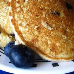 Mom's Oatmeal Blueberry Pancakes