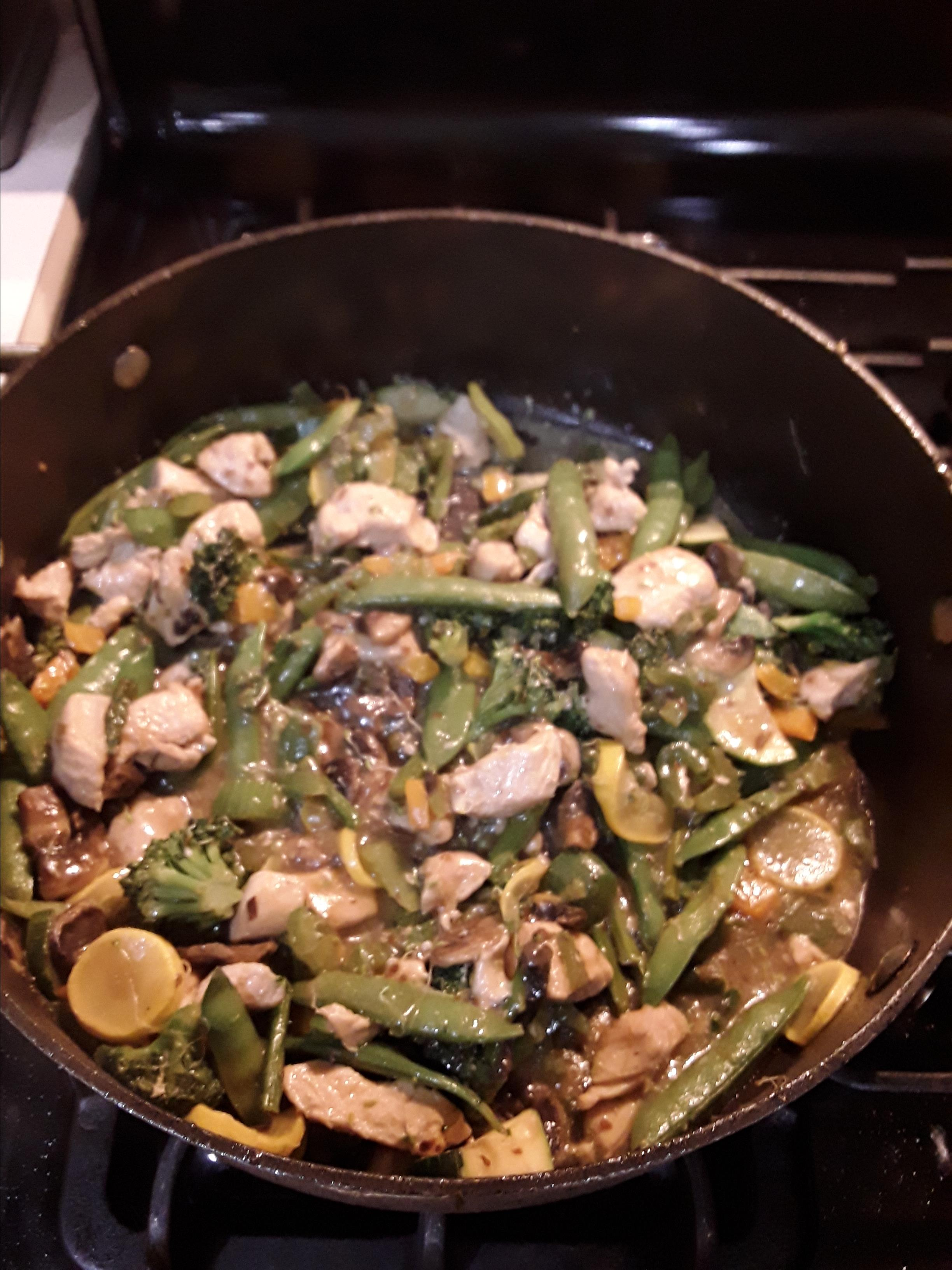 Stir-Fried Vegetables with Chicken or Pork Jodi Caldwell