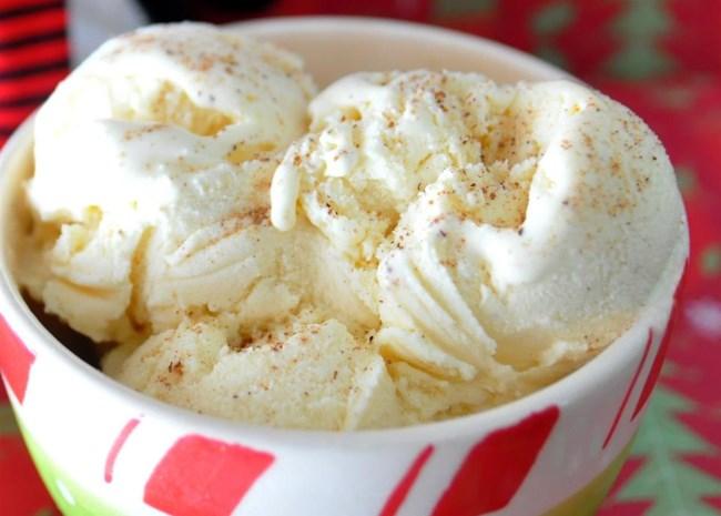 No-Cook Eggnog Ice Cream