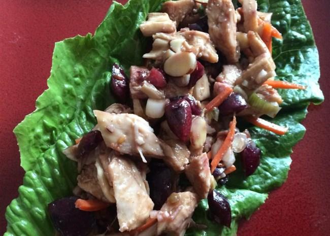 Cherry Chicken Lettuce Wraps
