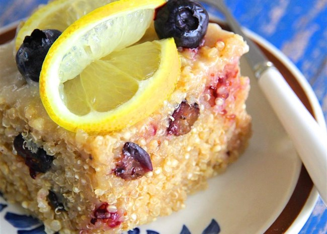 Blueberry Quinoa with Lemon Glaze