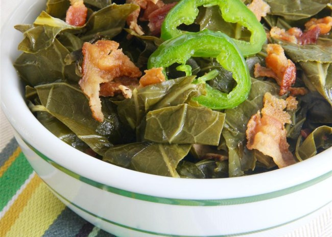 Slow Cooked Collard Greens