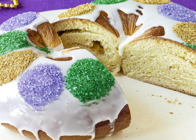 Buttermilk King Cake with Cream Cheese Filling
