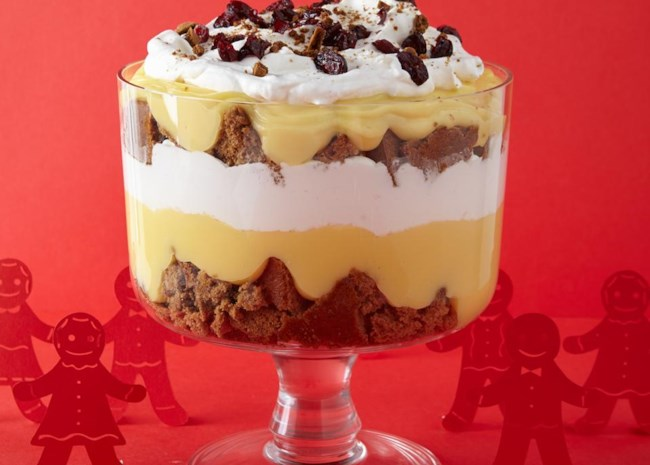 Eggnog Gingerbread Trifle