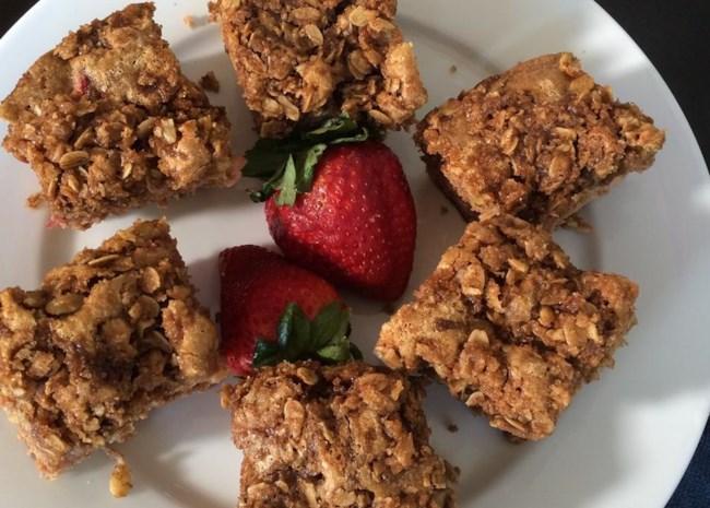 Grandma Moyer's Rhubarb and Strawberry Coffee Cake