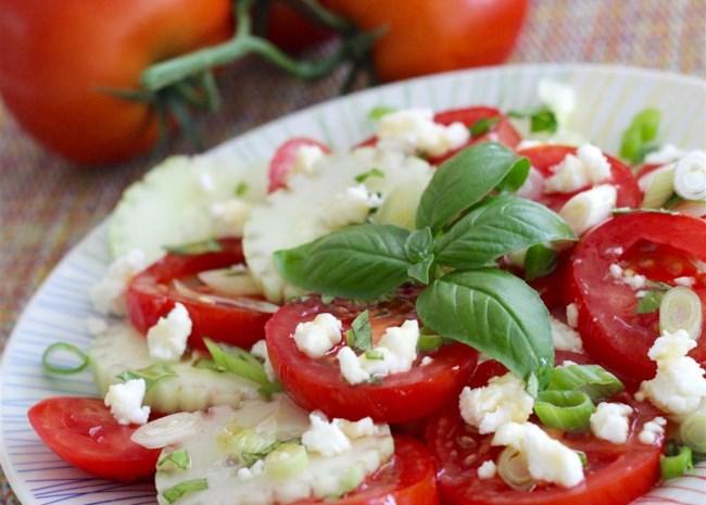 Herb 'n Honey Cucumber Tomato Salad