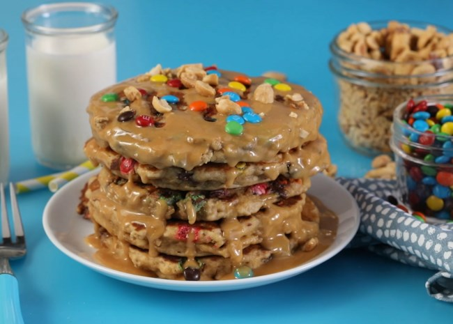 Monster Cookie Pancakes