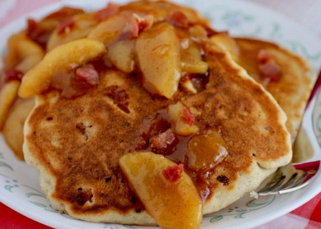 Bacon Bourbon Apple Pancakes