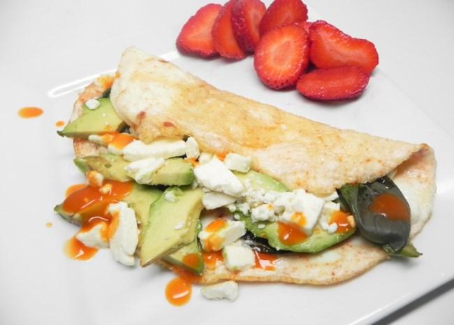 Avocado and Feta Egg White Omelet