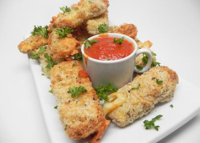 Air-Fried Mozzarella Sticks
