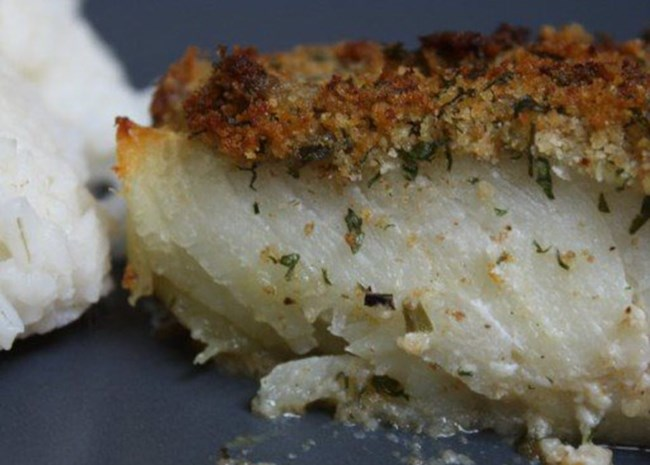 Oven-Baked Cod with Bread Crumbs