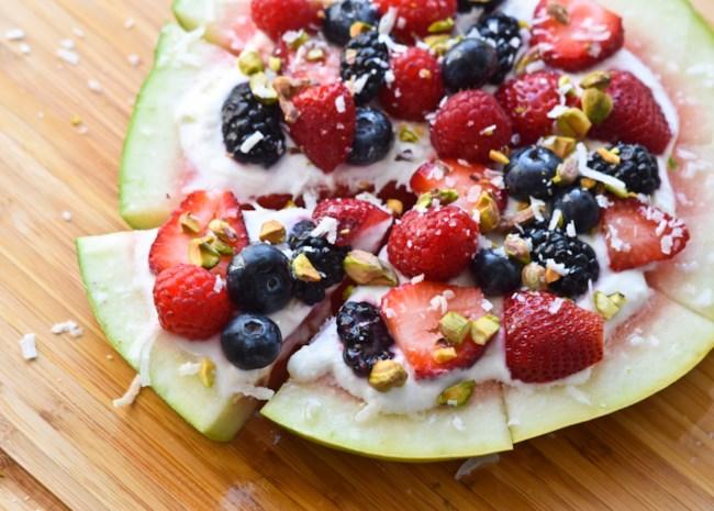 yogurt watermelon pizza