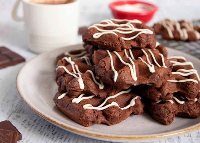 Spiced Chocolate Waffle Cookies