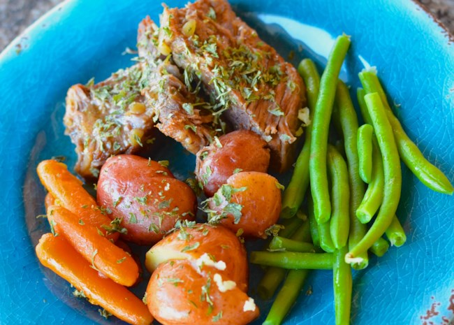 Instant Pot(R) Pot Roast with Potatoes and Carrots