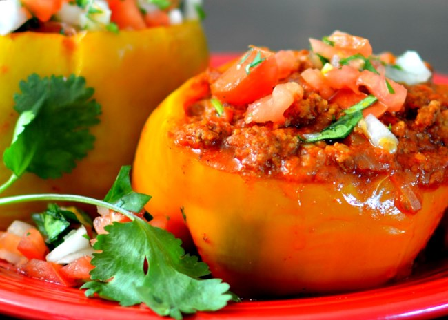 Instant Pot(R) Beef-Stuffed Peppers