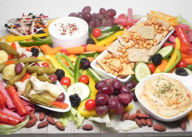 Greek-Inspired Snack Board